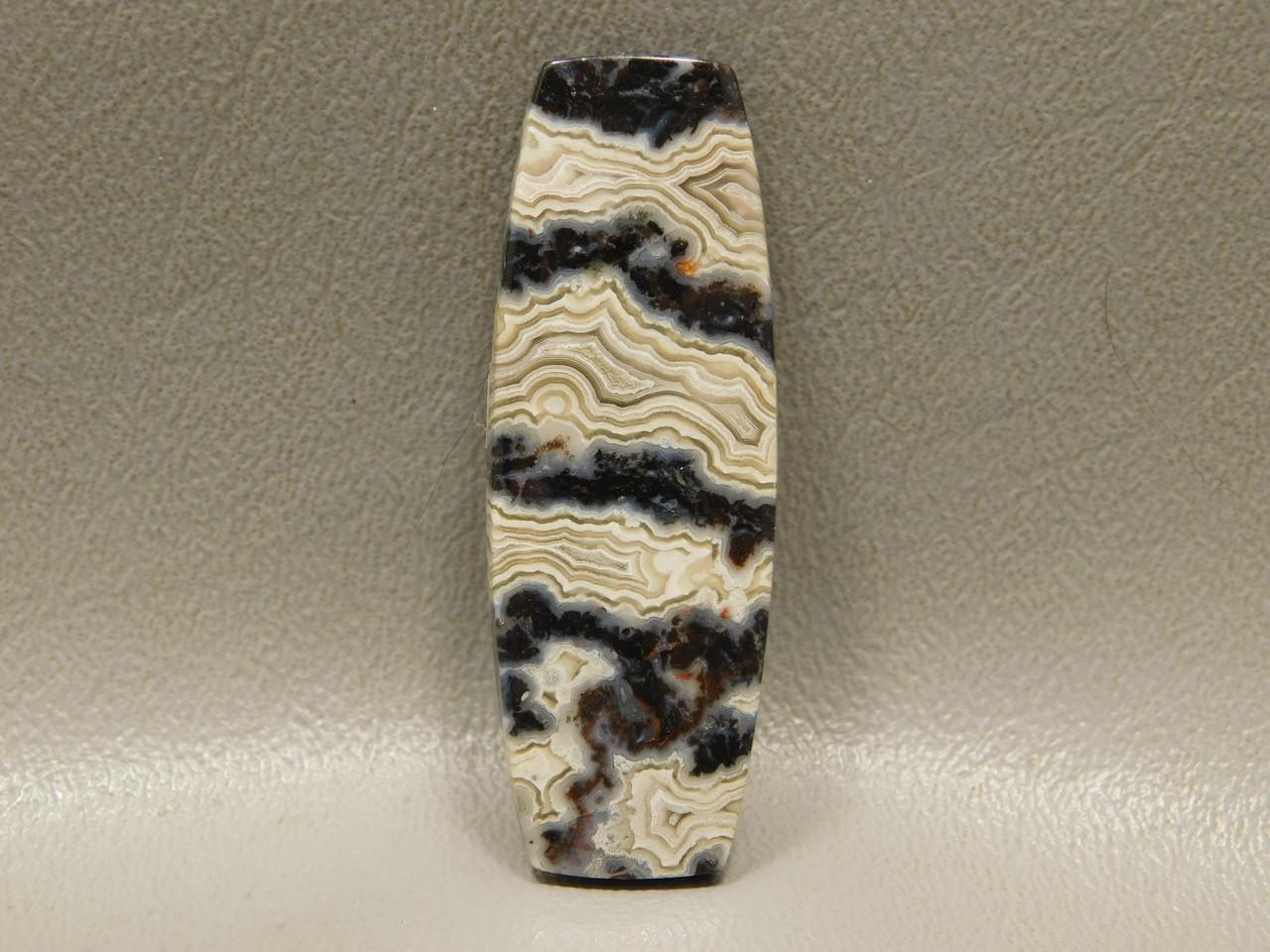 Black and White Crazy Lace Agate Designer Gemstone Cabochon #6