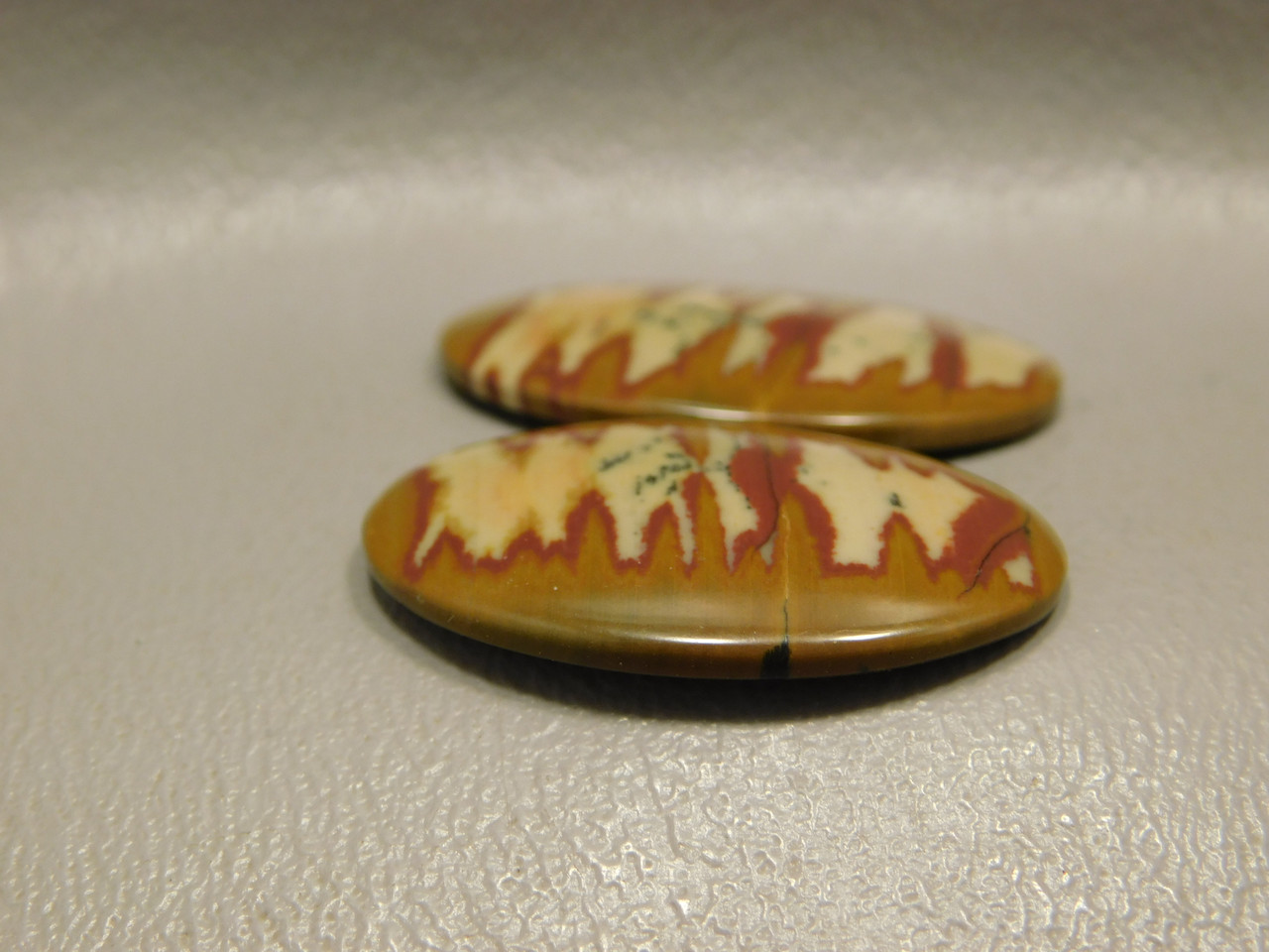 Owyhee Jasper Stone Matched Pair Cabochons #9