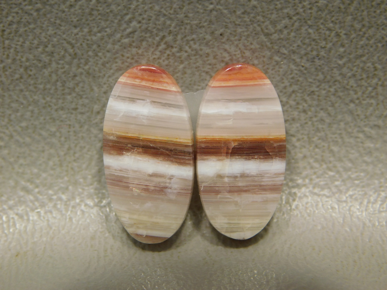 Bubble Bacon Opal Matched Pair Small Cabochon Stones #19