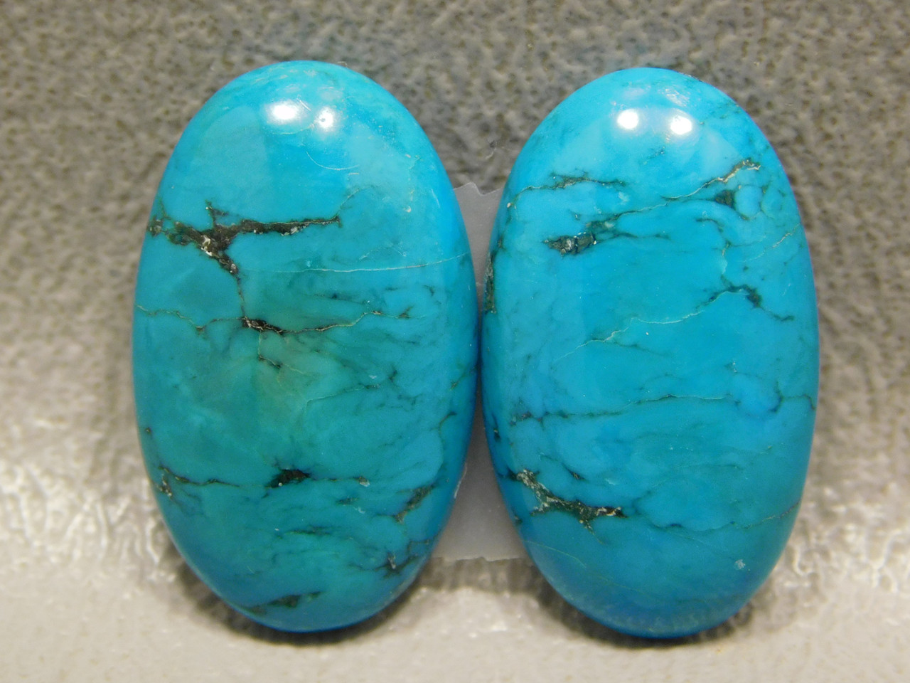 Turquoise Gemstone Matched Pair Cabochons for Earrings #16