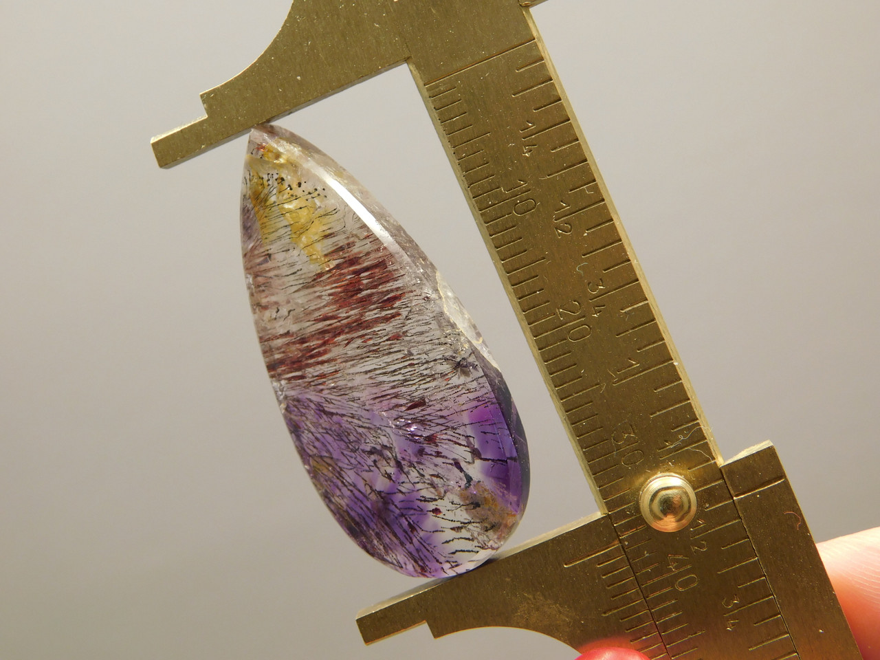 Cacoxenite Amethyst Cabochon #37