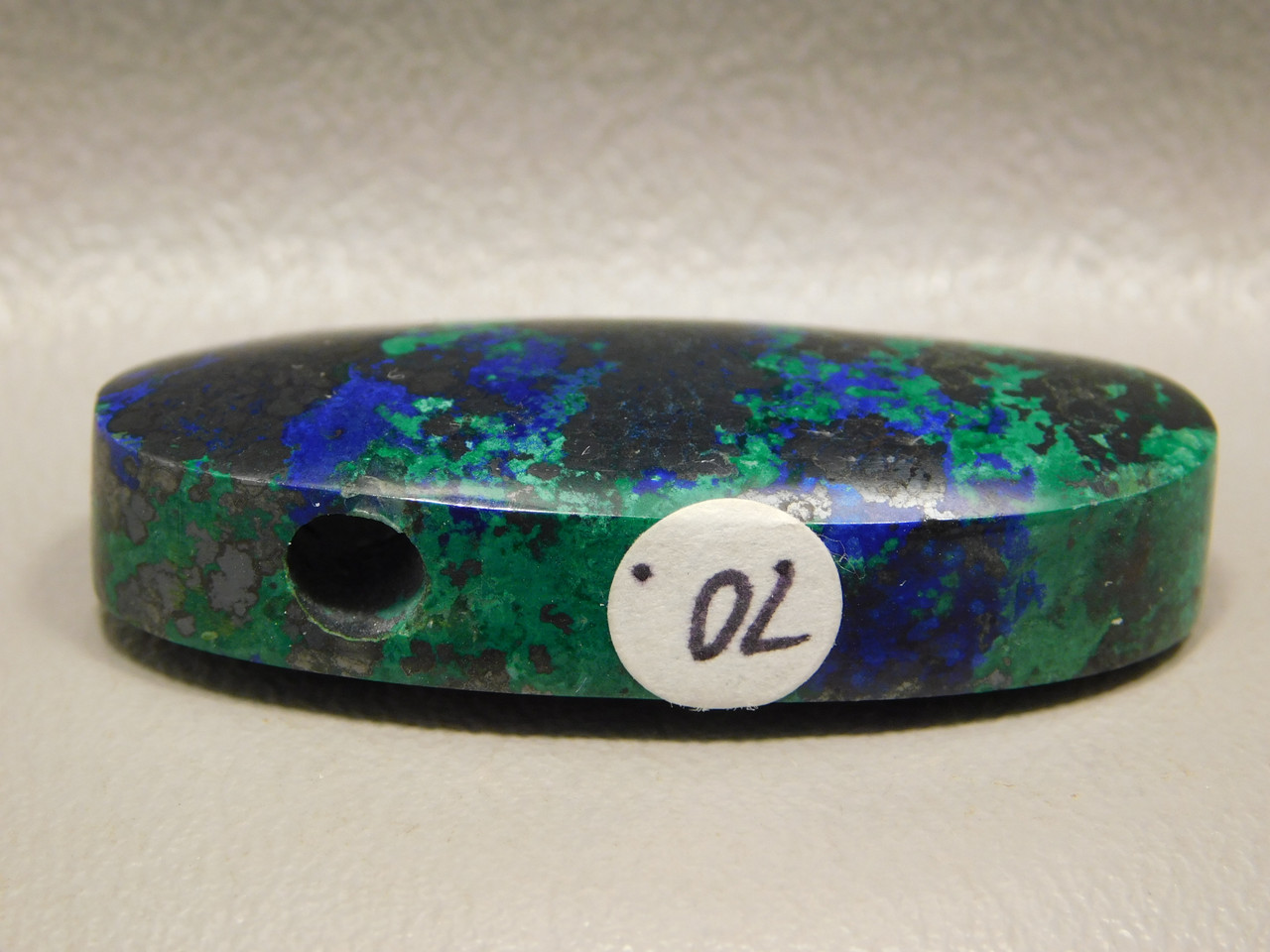 Blue Azurite Green Malachite Stone Top Drilled Stone Bead #6