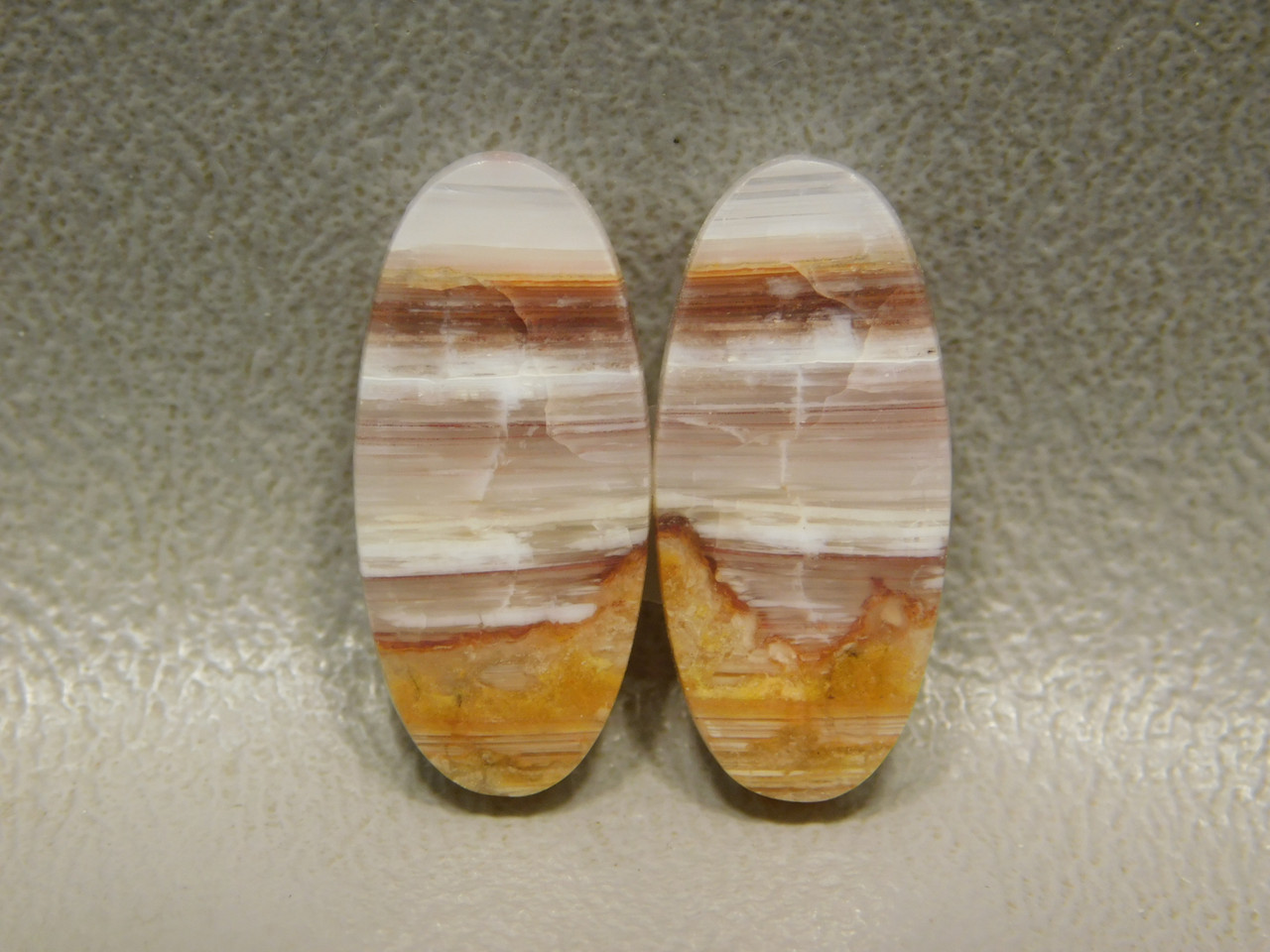 Striped Candy Opal Matched Pairs Small Cabochon Stones #2