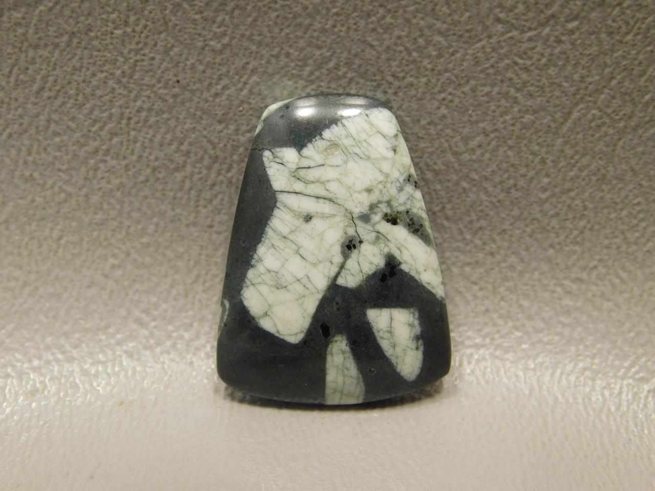 Chinese Writing Rock Cabochon Designer Gemstone #6