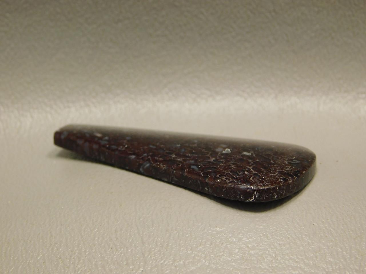 Translucent Large Drop Shaped Dinosaur Bone Fossil Cabochon #10