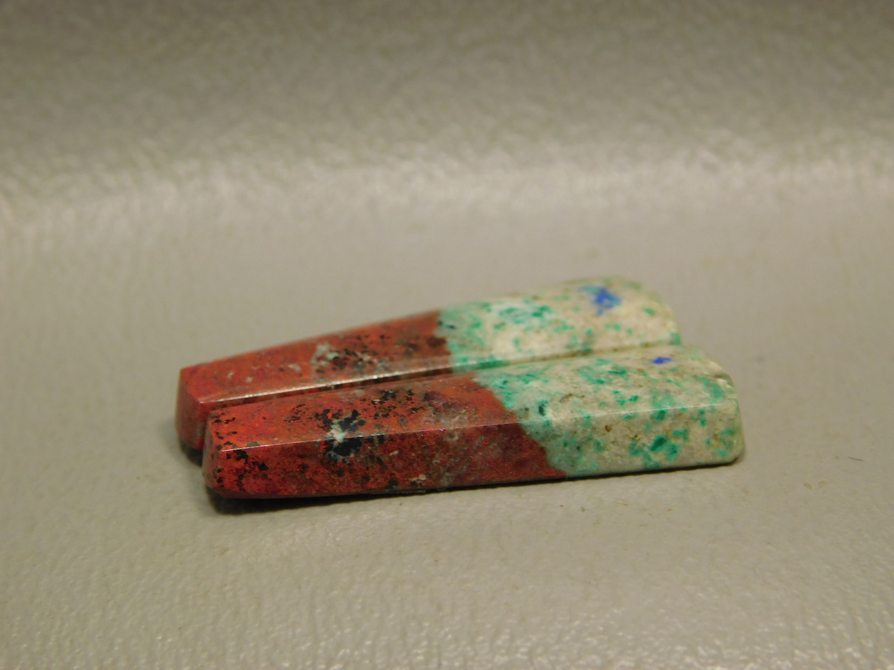 Matched Pair Cabochons Sonoran Sunset Chrysocolla Natural Stones #32