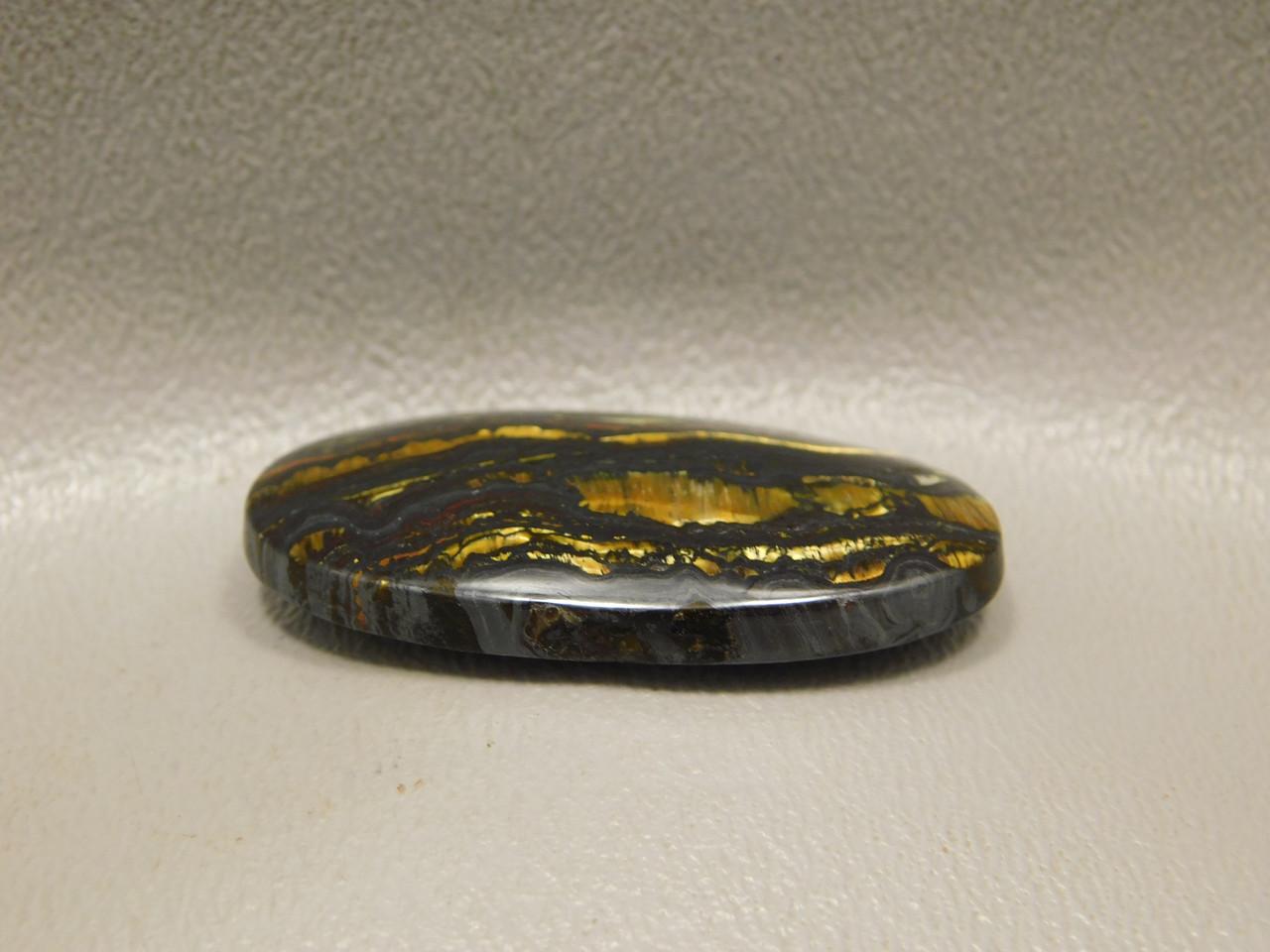 Tiger Iron Golden Chatoyant Stone Cabochon #6