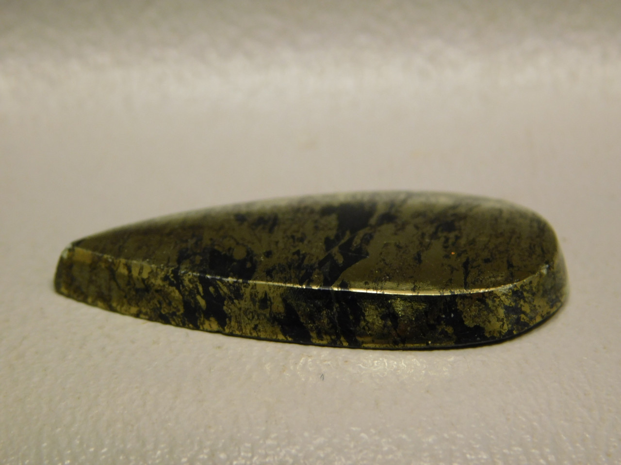 Apache Gold Pear Shaped Black and Gold Healers Stone Cabochon #14