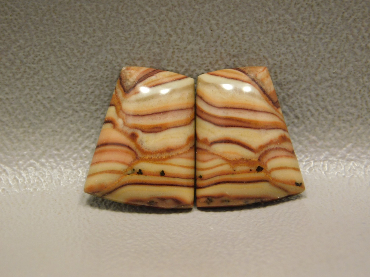 Wave Dolomite Stone Cabochons Matched Pairs for Earrings #3