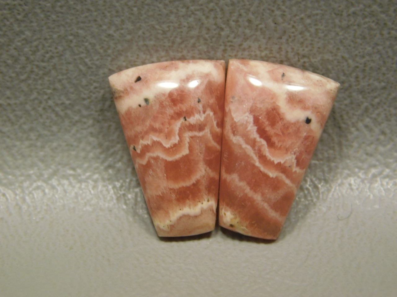 Cabochon Stones Pink Rhodochrosite Matched Pairs  for Earrings #12