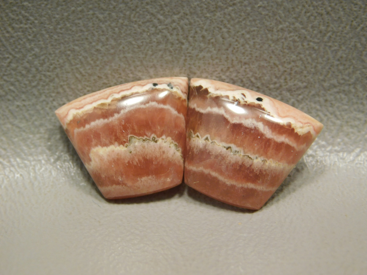 Cabochons Jewelry Stones Pink Rhodochrosite Matched Pairs  #10