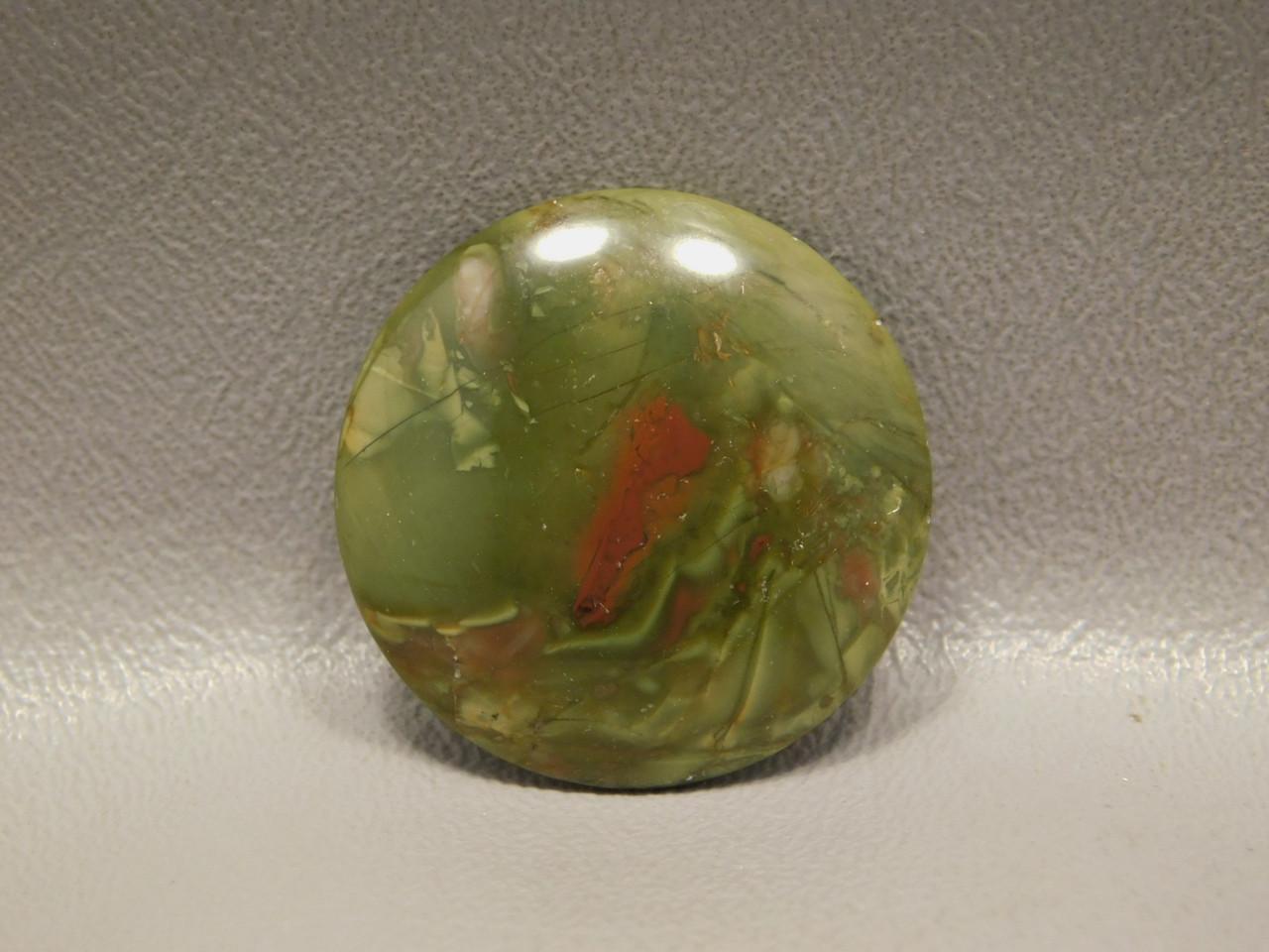 Morrisonite Jasper 31 mm Round Green Loose Stone Cabochon #22