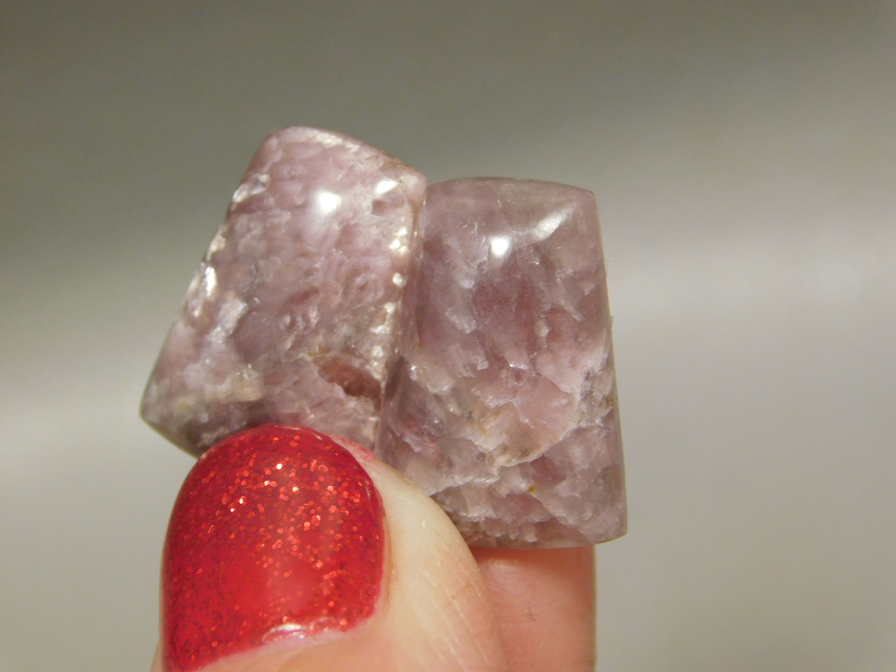Purple Lepidolite Cabochons Matched Pairs Loose Stones #10
