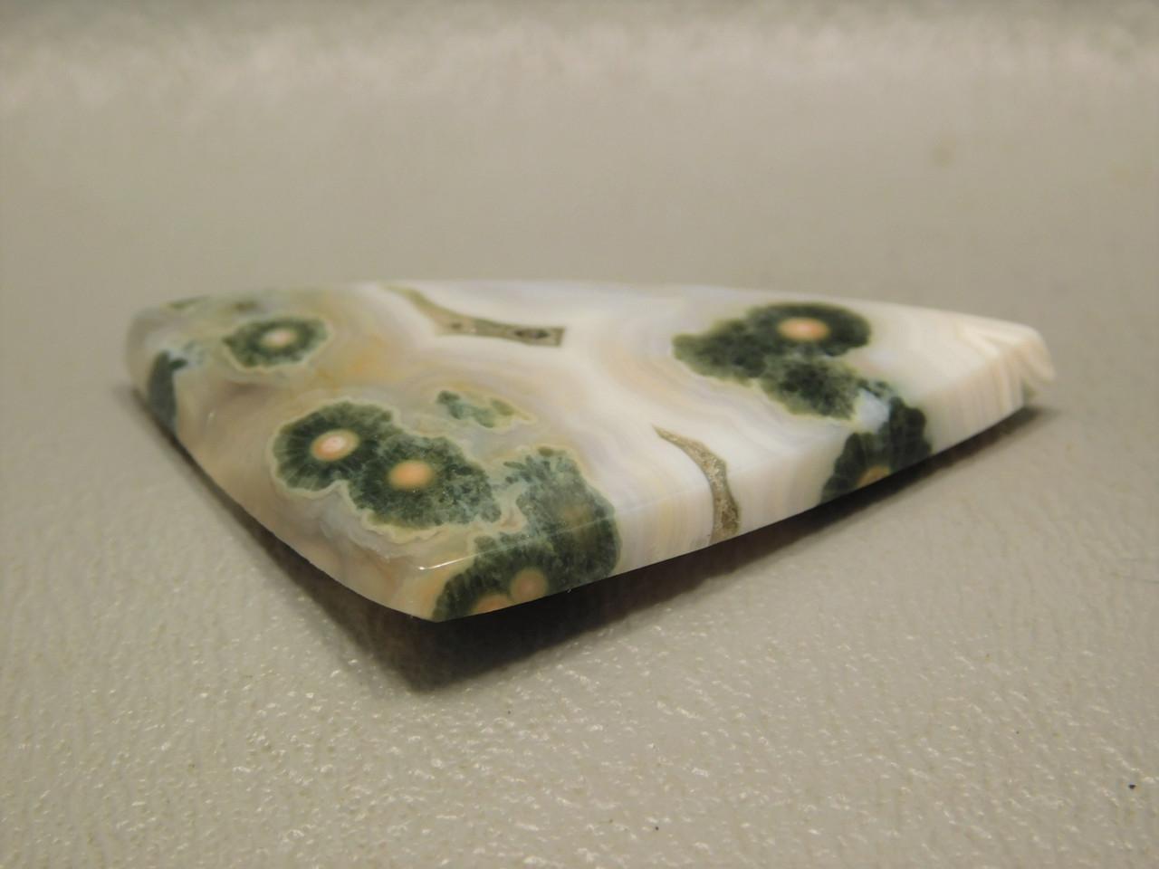 Orbicular Ocean Jasper Loose Stone Jewelry Cabochon #24