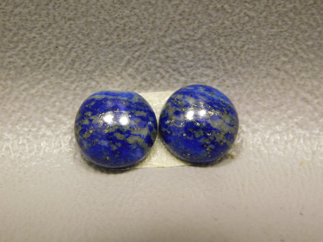 Cabochons Blue Stone Lapis Small 9 mm Round Matched Pairs #16