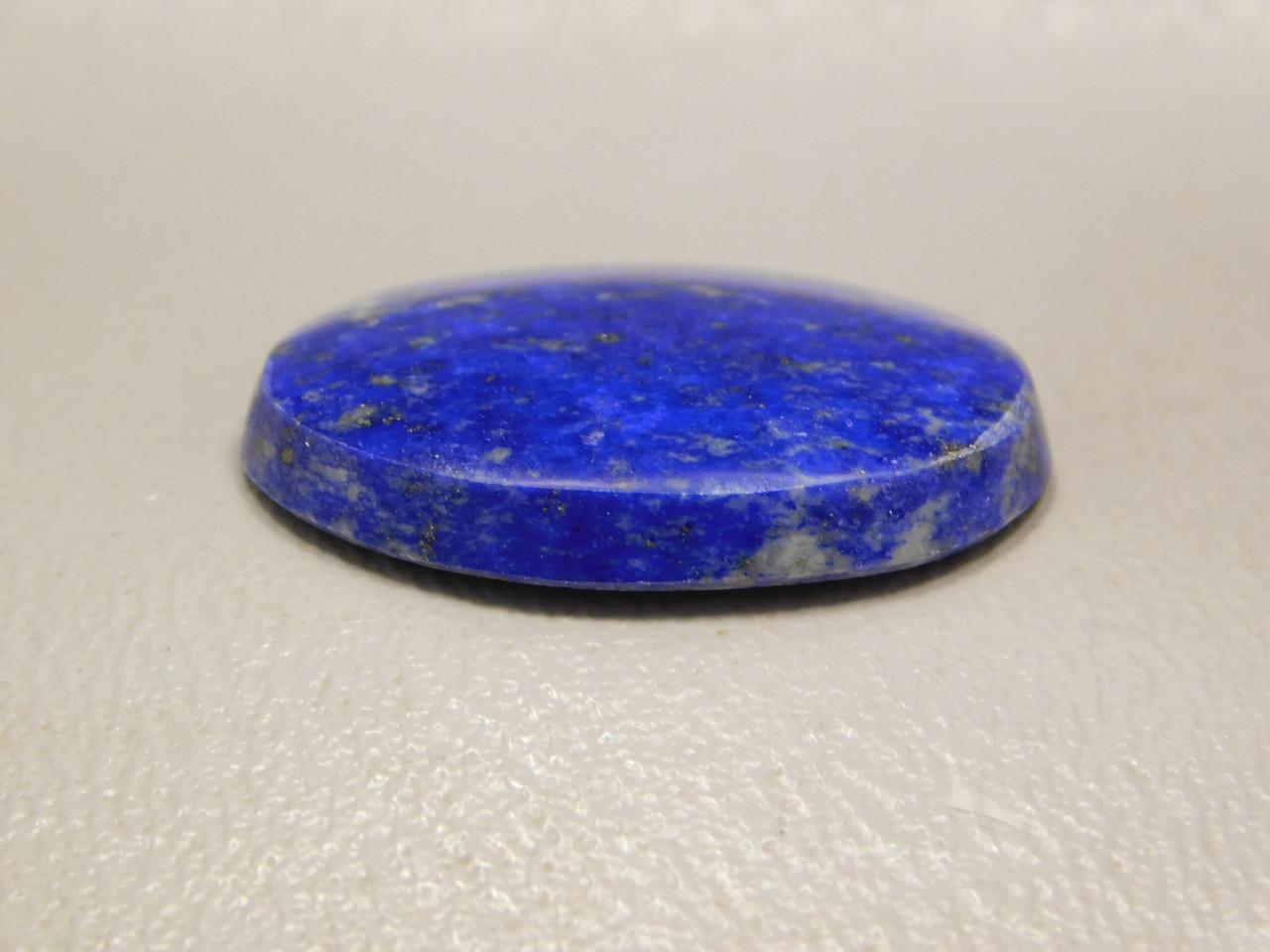 Lapis Lazuli Oval Stone Blue Gold Pyrite Jewelry Cabochon #13