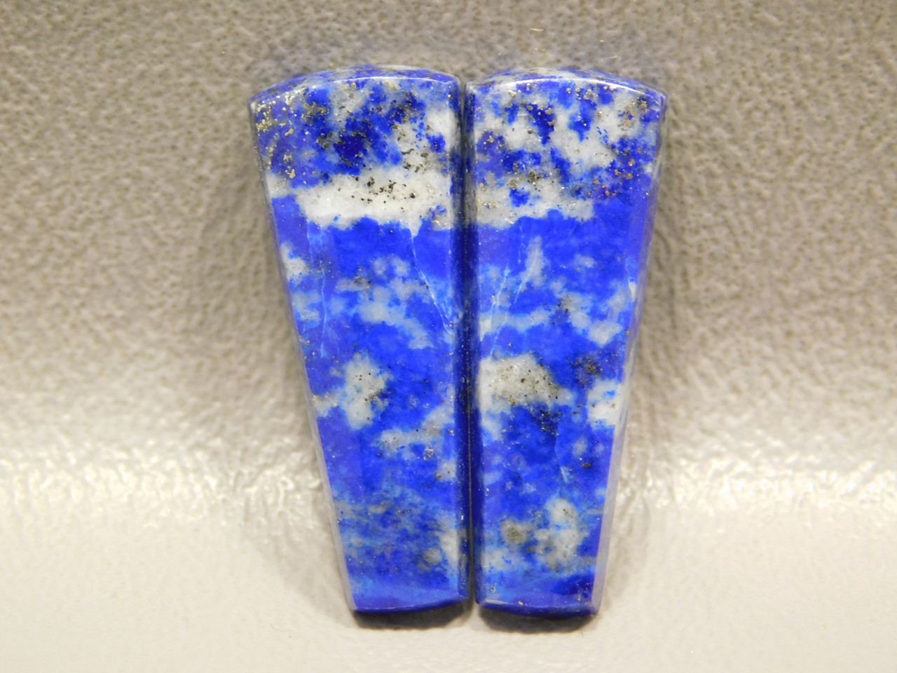 Blue Designer Cabochons Lapis Lazuli Matched Pairs for Earrings #18
