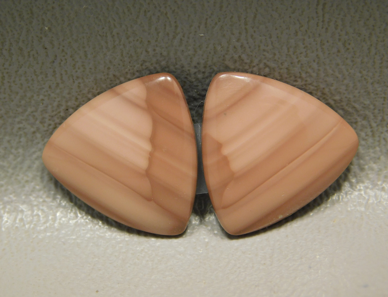 Royal Imperial Jasper Cabochon Stones Matched Pair 17 mm Trillion #18