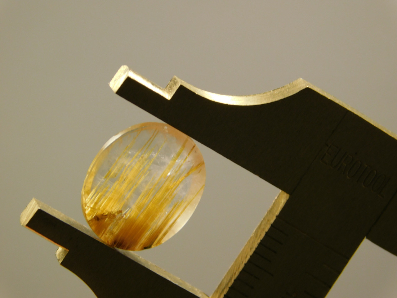Rutilated Quartz Crystal Small Oval Clear Gold Inclusions Cabochon #17