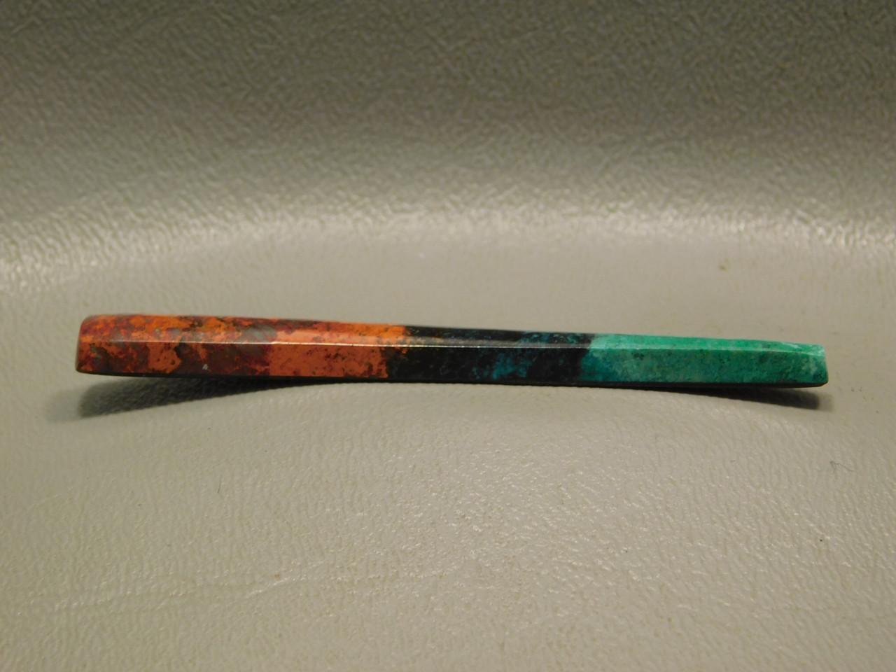 Sonora Sunset Chrysocolla Cuprite Long Thin Cabochon Stone #10