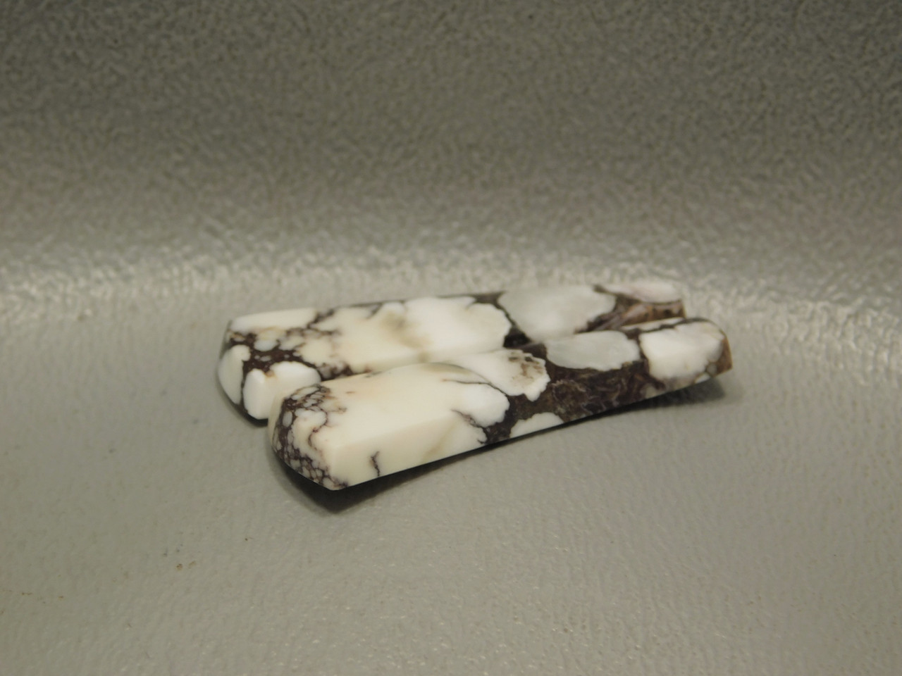 Wild Horse Stone Matched Cabochons White Magnesite Pairs #18