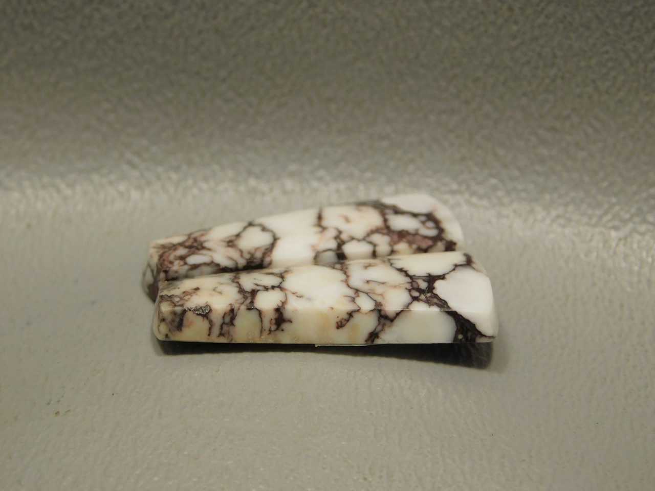 Wild Horse Stone Matched Cabochons Magnesite White Pairs #6
