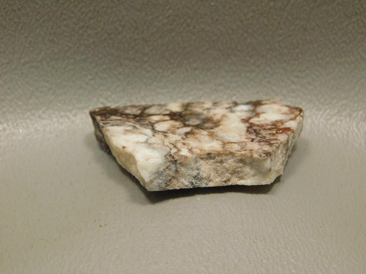 Wild Horse White Brown Mottled Polished Stone Slab Cabochon #S15