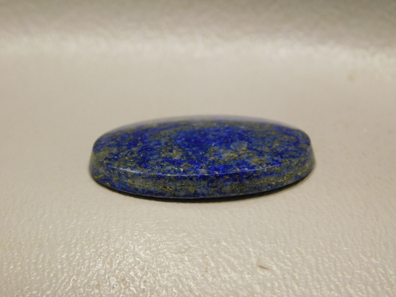 Natural Lapis Lazuli Oval Stone Blue Gold Pyrite Cabochon #7