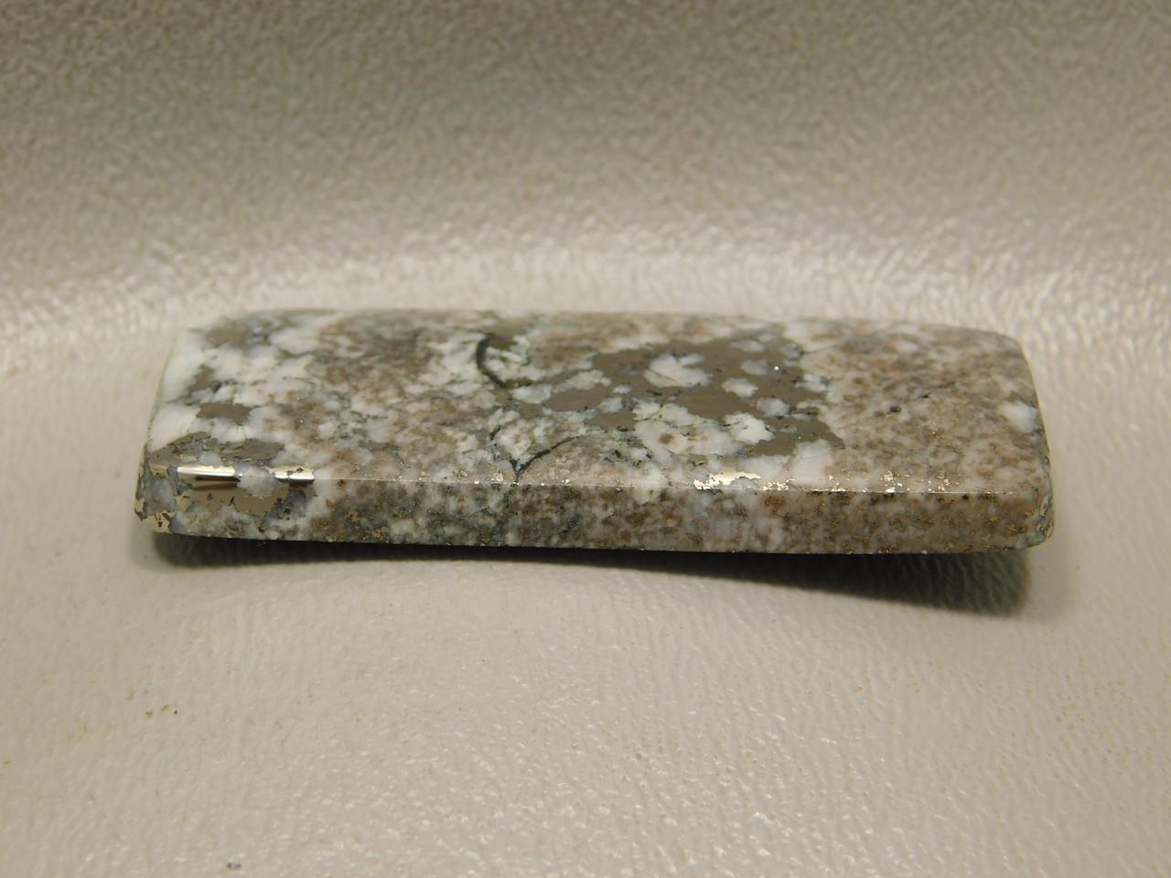 Mohawkite Rectangle Designer Cabochon White Gold Silver Michigan #14