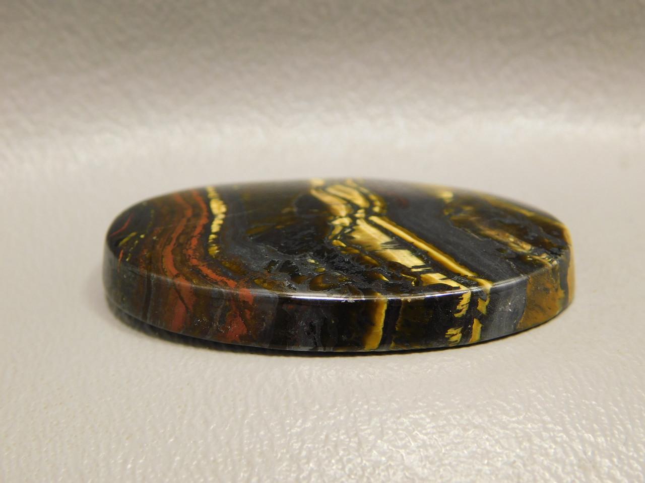Tiger Iron Golden Chatoyant Semiprecious Stone Designer Cabochon #19