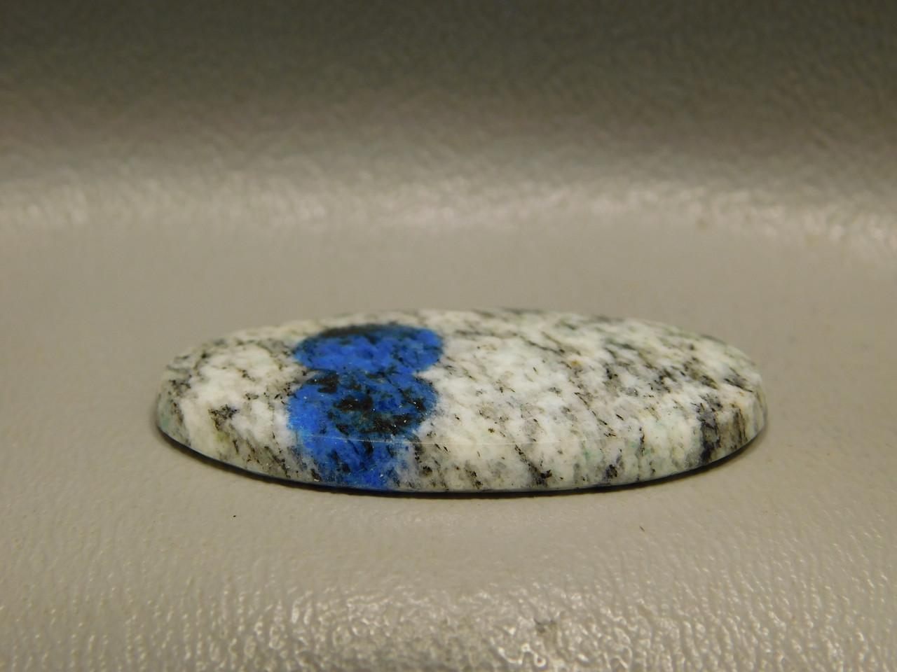 K2 Azurite Granite Jasper Cabochon Blue Dot Semiprecious Stone #17