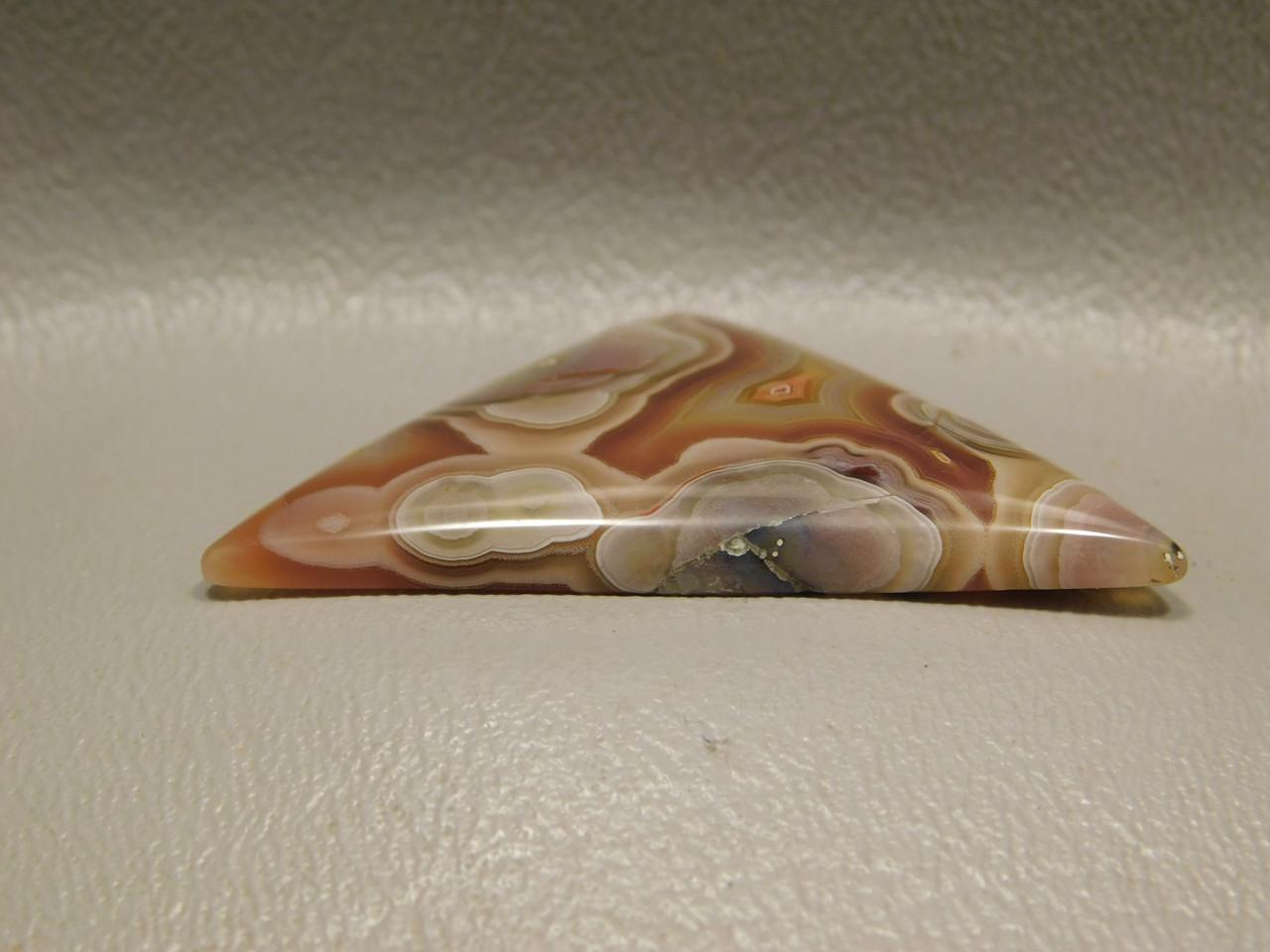 Laguna Agate Red Banded Designer Cabochon Triangle Jewelry Stone #20