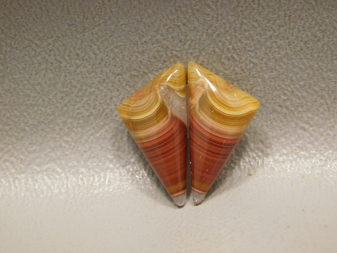 Laguna Agate Red Banded Matched Pair Cabochons Loose Stones #2