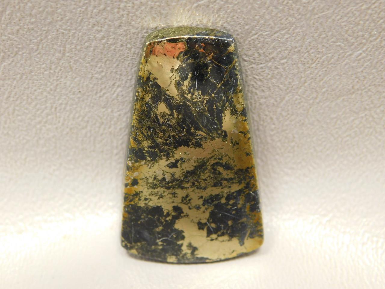 Apache Gold Cabochon Gemstone Trapezoid Black Healer Stone #4