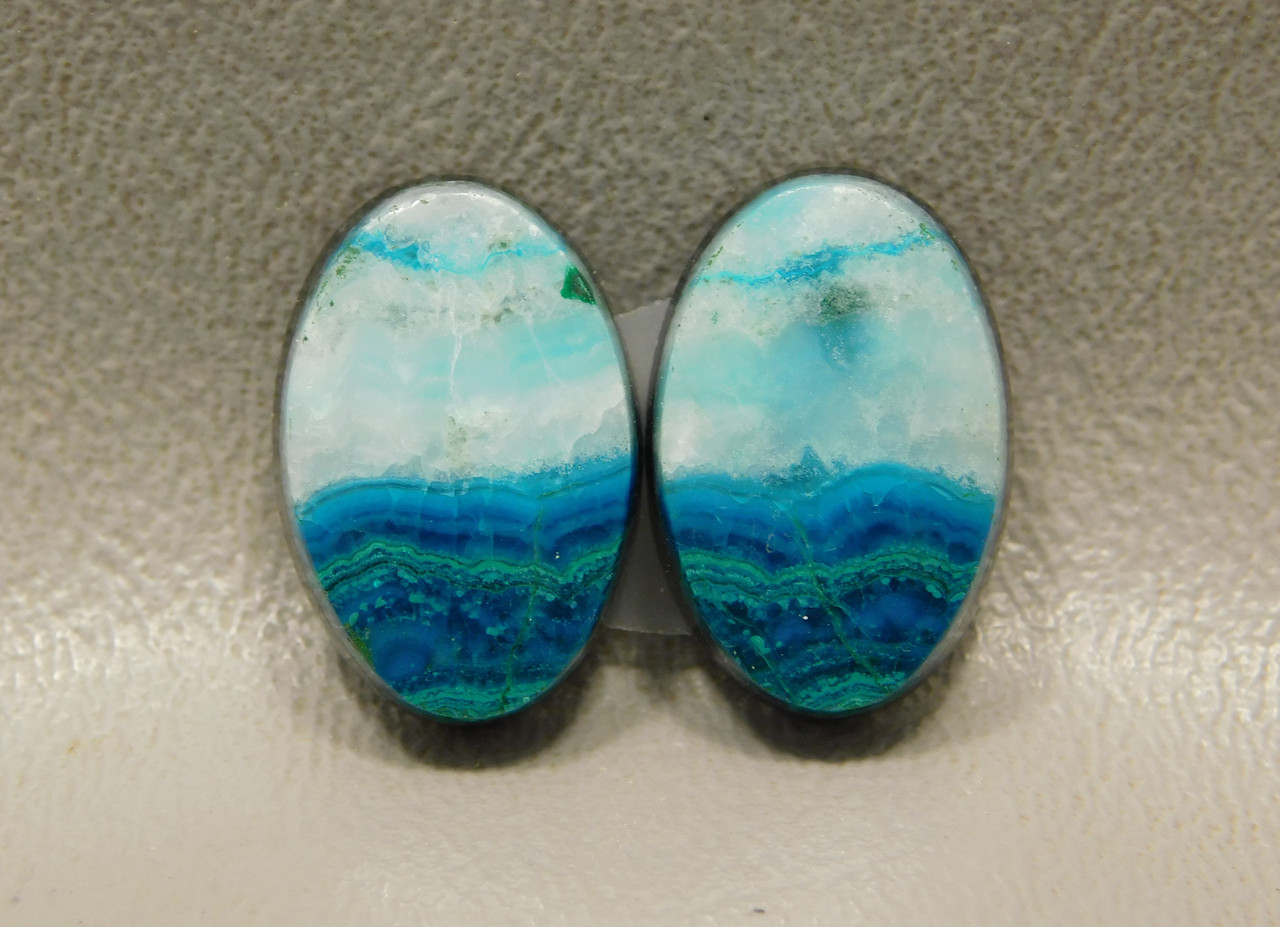 Chrysocolla Malachite High Grade Stones Blue Green White Cabochons #10