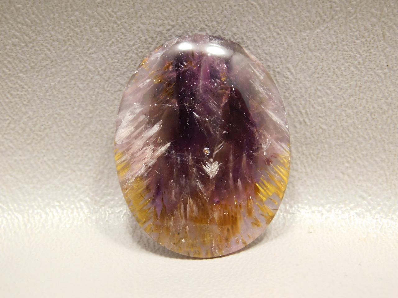 Cacoxenite Amethyst Quartz Super Seven Oval Stone Cabochon #44