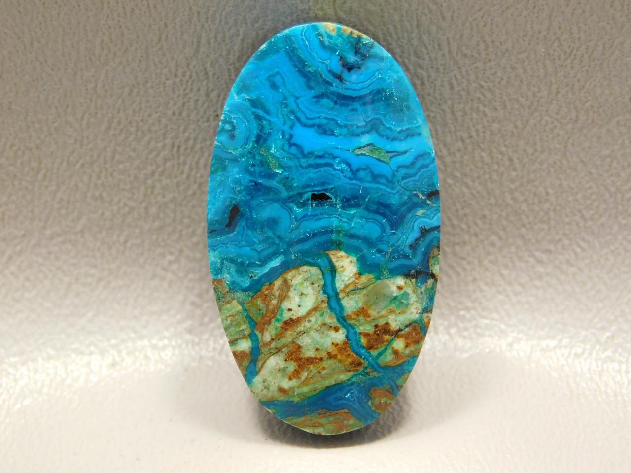 Chrysocolla Malachite Gemstone Drilled Bead Pendant Stone #6