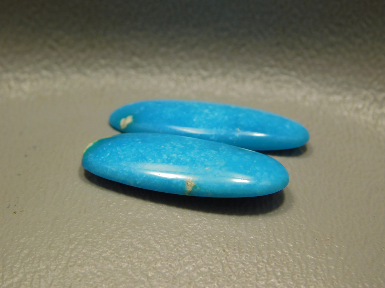 Turquoise Gemstone Matched Pair Jewelry Cabochons Earrings #23