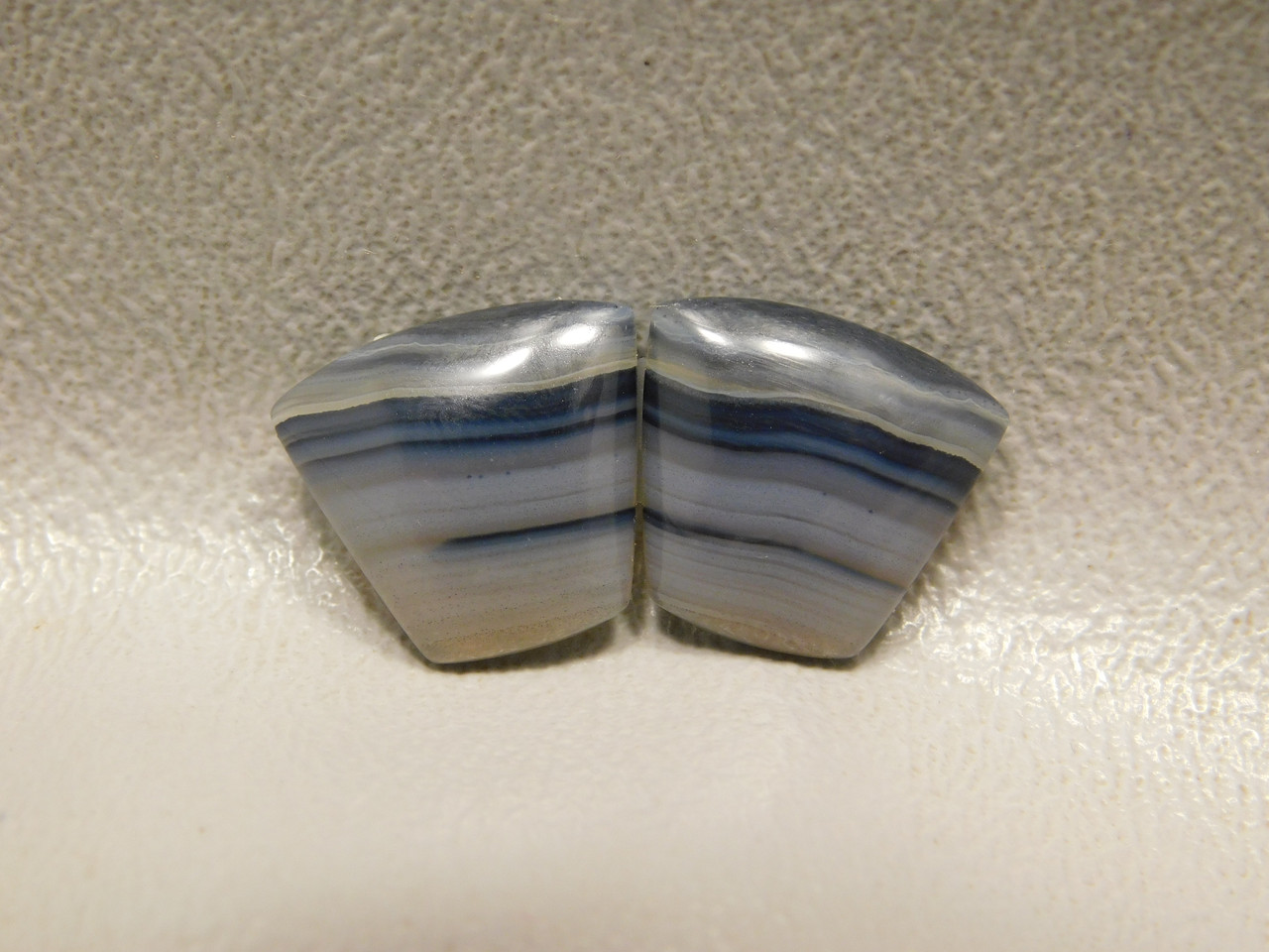 Montana Agate Small Moss Matched Pair Cabochons Designer #14