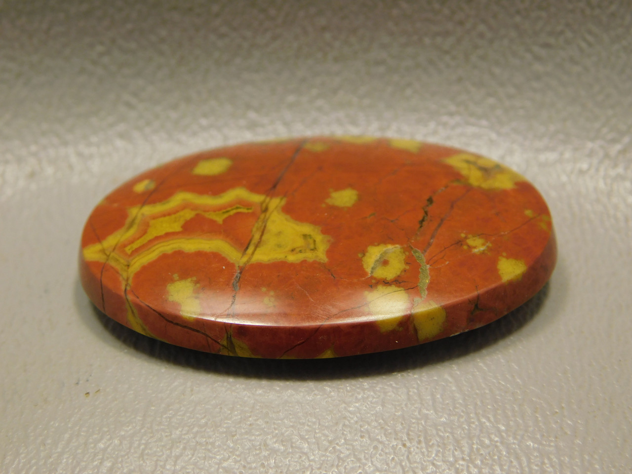 Morgan Hill Poppy Jasper Orbicular Stone Cabochon California #2