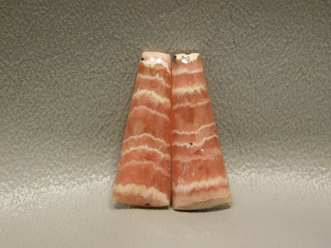 Cabochons Pink Gemstones Rhodochrosite Matched Pairs Pink #1