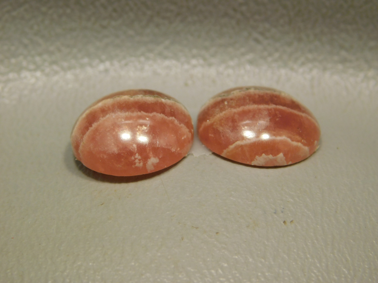 Cabochons Gemstones Rhodochrosite Matched Pairs 14 mm Rounds #4