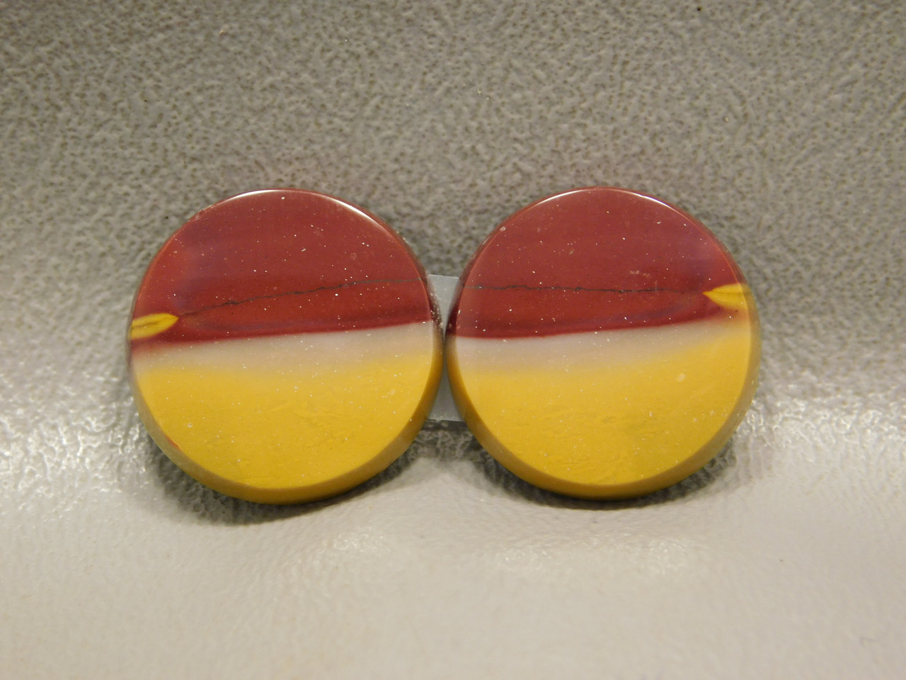 Mookaite Cabochons Mook Jasper Matched Pairs 18 mm Rounds #6