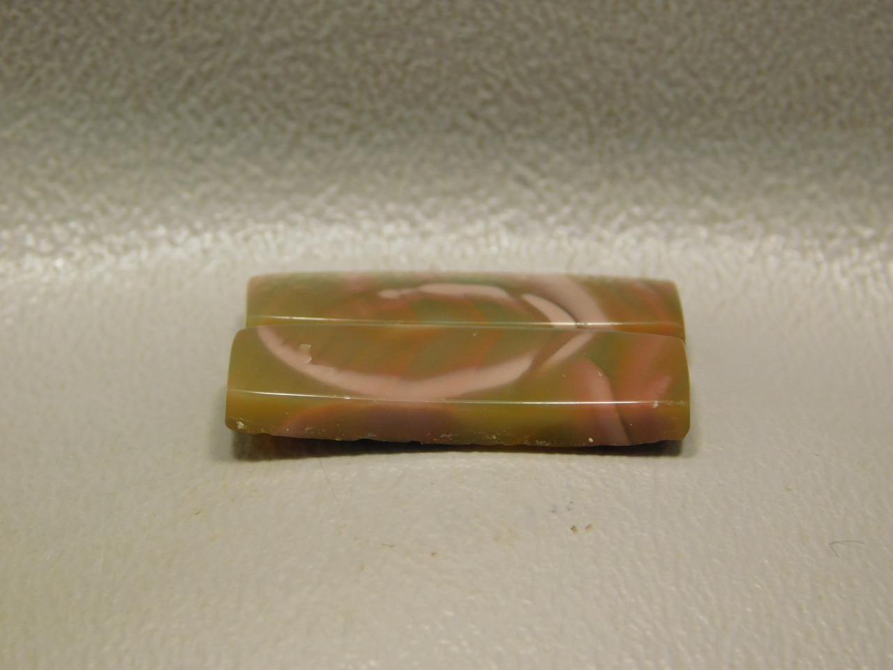 Royal Imperial Jasper Matched Pair Cabochon Pink Bar Shaped #21