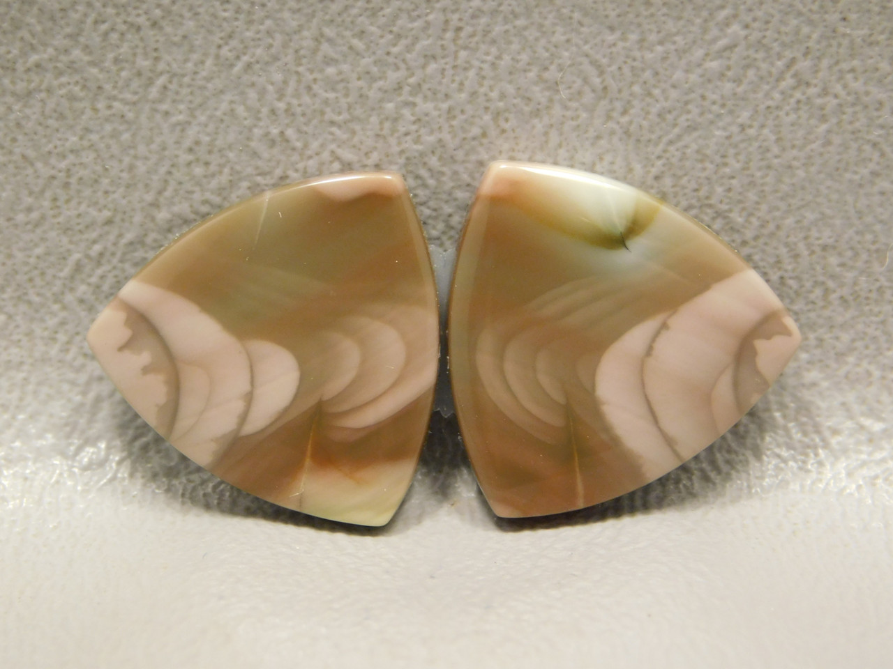 Royal Imperial Jasper Cabochon Stones Matched Pair Trillions #7