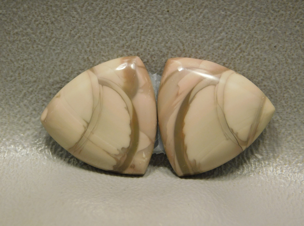 Royal Imperial Jasper Cabochon Stones Matched Pair 20 mm Trillions #8