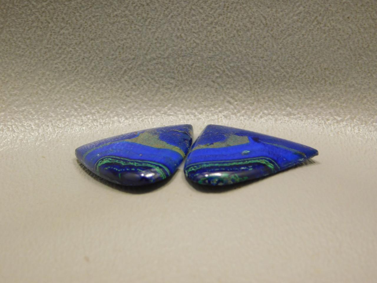 Azurite-Malachite Matched Pairs Cabochons Semiprecious Stones #6