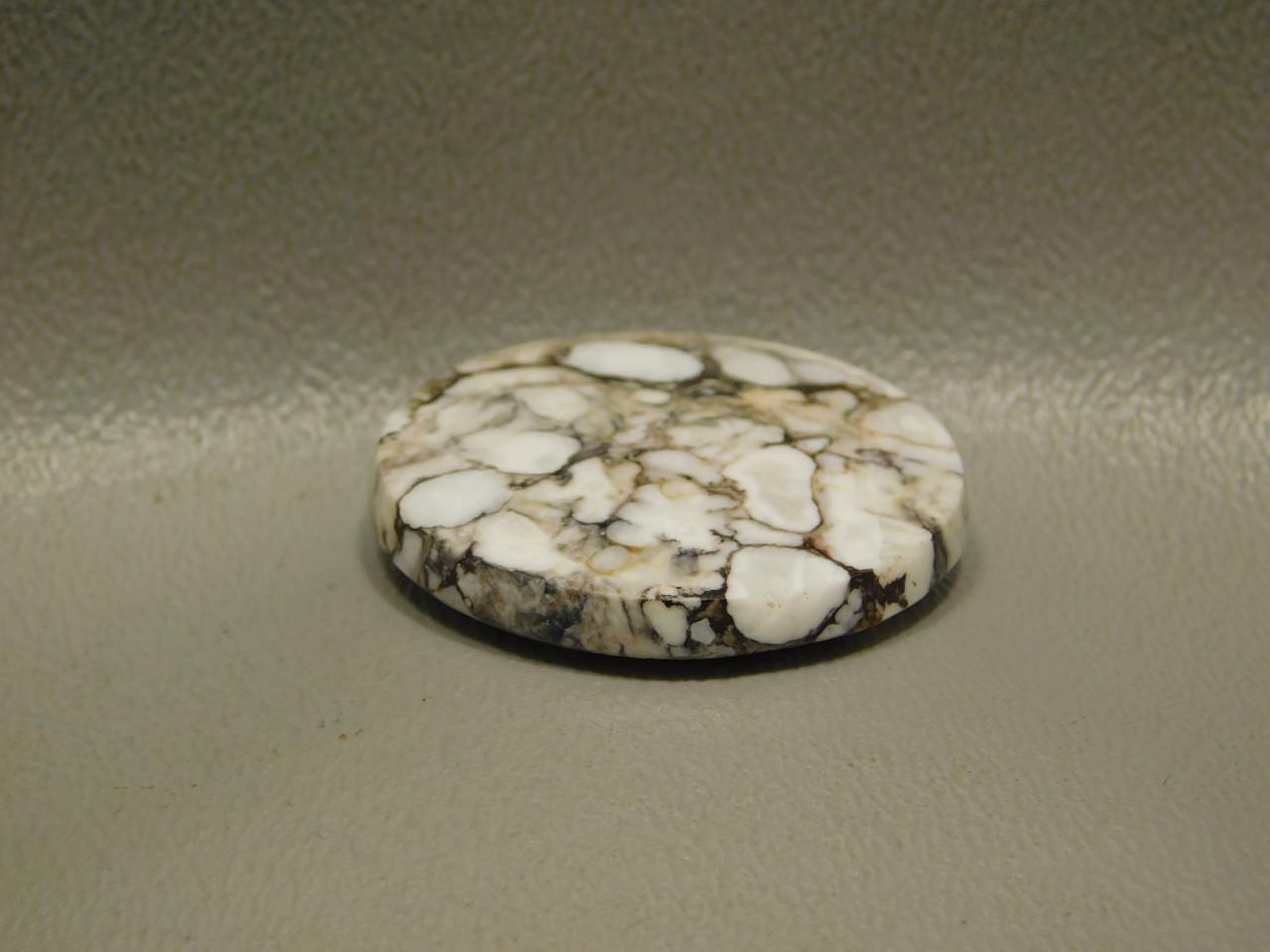 Designer Stone Cabochon Wild Horse White 16 mm Round #5