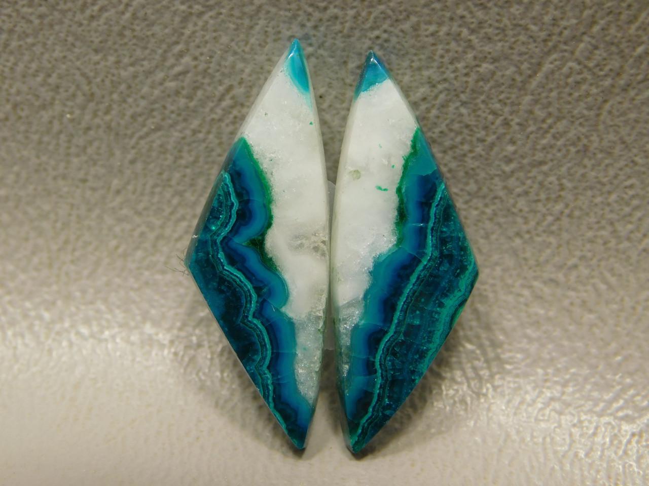 Chrysocolla Malachite Blue Green White Cabochon Matched Pairs #6