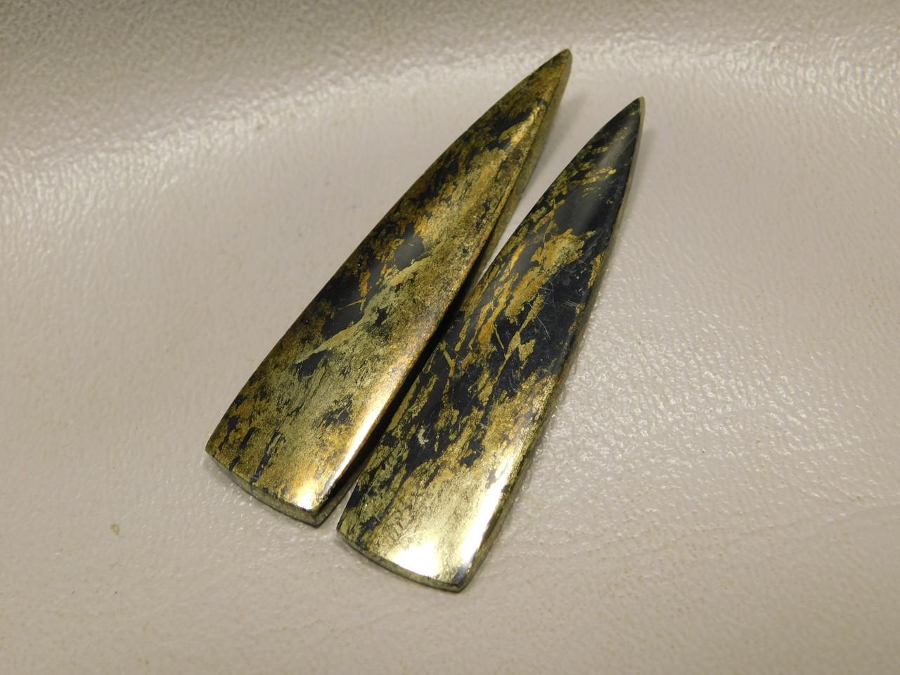 Apache Gold Matched Pair Cabochons Designer Gemstone #7